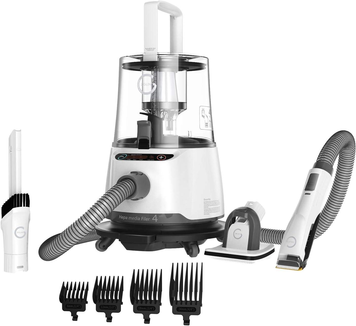 ZIGLINT Maquina de Esquilar Eléctrica Aspirador de Mano 2 en 1 P20 Especail Mascotas Esquiladora Trasquilar peladora, Aspirador Líquido y Sólido,Hogar, pelos de Perro y Gato,4 Tipos de Cuchillas: Amazon.es: Productos para