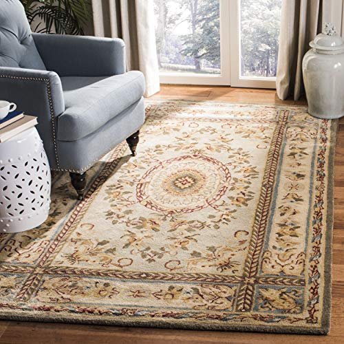 Safavieh Bergama Collection BRG174A Handmade Light Blue and Ivory Premium Wool Area Rug (5' x 8') 5 Bergama Rectangle Rug