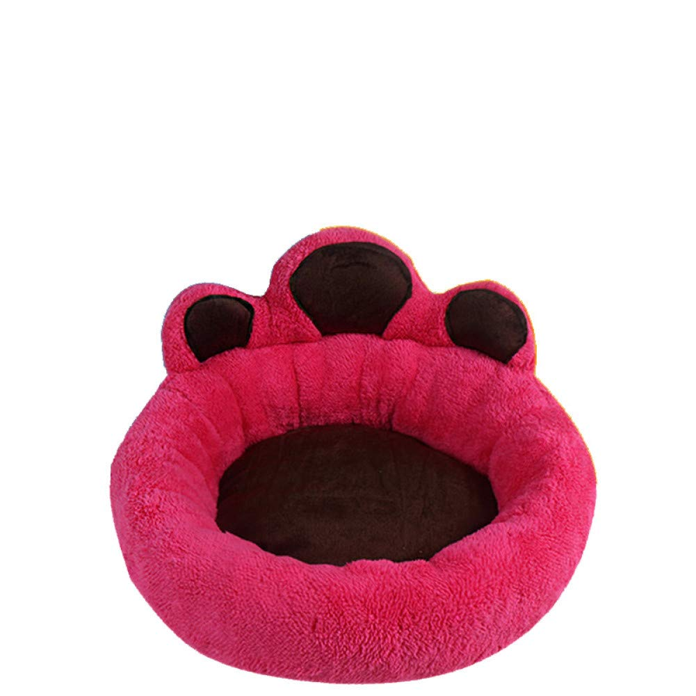 Aigou Dog Bed Warm Soft Pet Dog Bed Mat Round Dog Sofa Bed For Puppies Kittens Breathable Creative Bear Claw Pattern Bed Cushion Pet Supplies