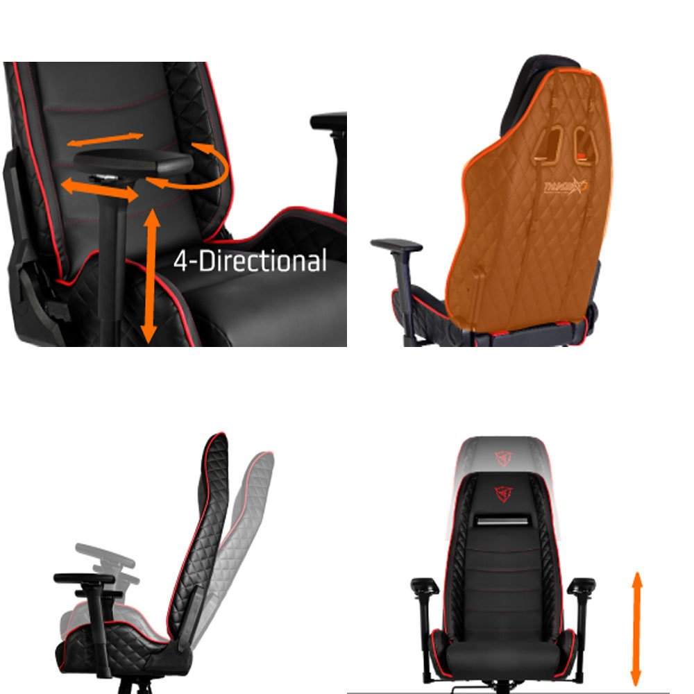 Series Gaming Chair Blackred Tgc40 Thunderx3 Aerocool mnw80N