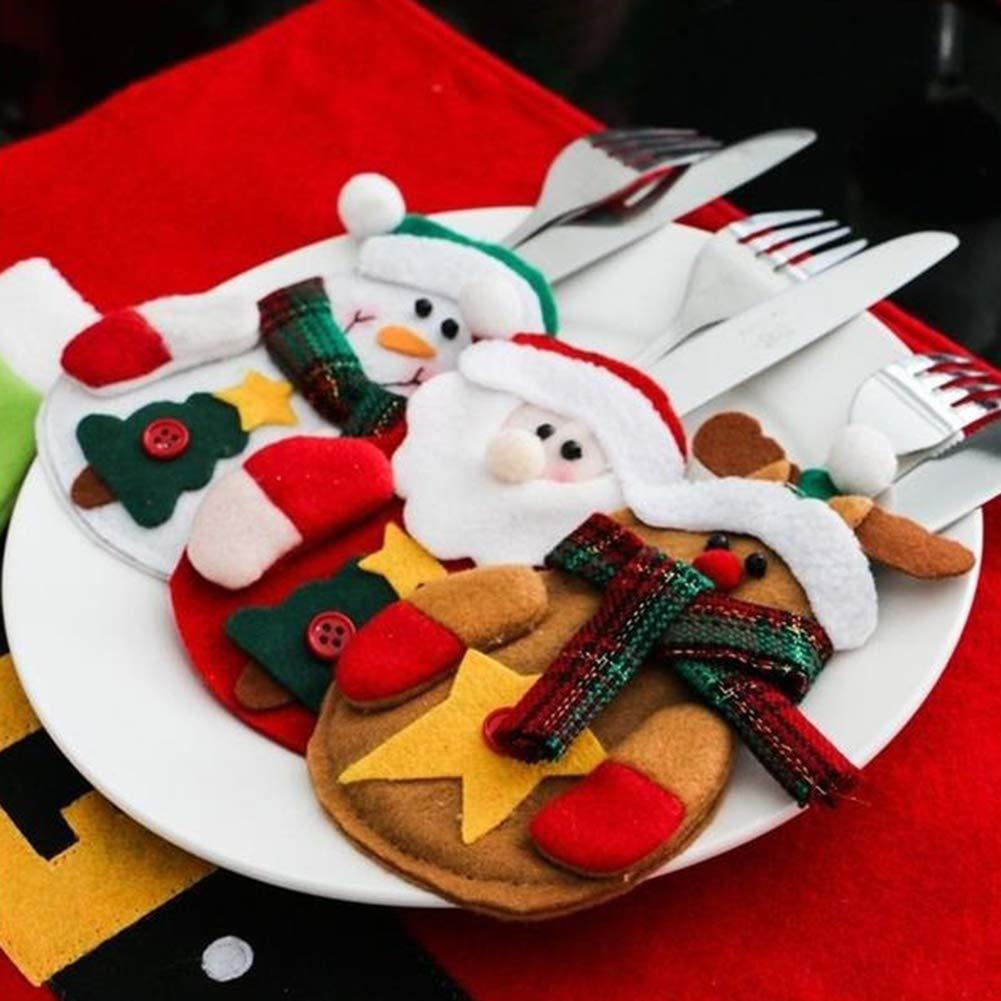 CHoppyWAVE Cutlery Pouch, Santa Claus Pattern Cutlery Holder Utensil Bag Fork Knife Pocket Xmas Decoration - A6-2-1 Tree Santa Claus by CHoppyWAVE (Image #5)