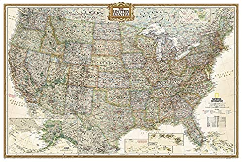 National Geographic United States Executive Wall Map