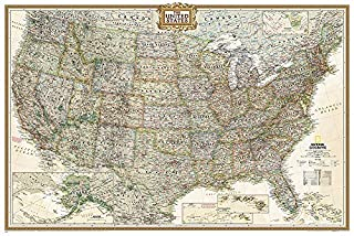 National Geographic: United States Executive Wall Map (Poster Size: 36 x 24 inches) (National Geographic Reference Map) (1597752207) | Amazon Products