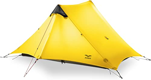 MIER Ultralight Tent 3-Season Backpacking Tent for 1-Person or 2-Person Camping, Trekking, Kayaking, Climbing, Hiking, exclude Trekking Pole