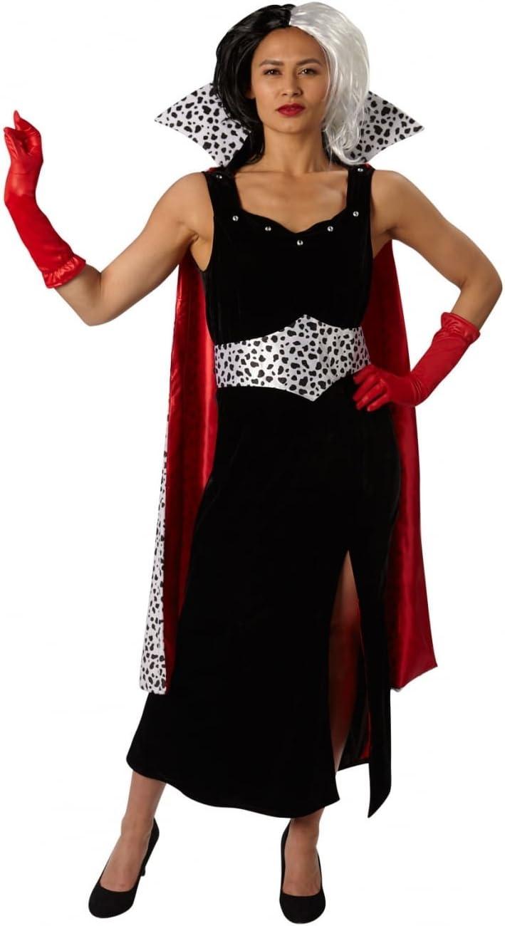 101 Dálmatas - Disfraz de Cruella de Vil Premium para mujer, talla S adulto (Rubies 810245-S): Amazon.es: Juguetes y juegos