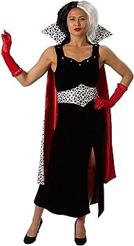 101 Dálmatas - Disfraz de Cruella de Vil Premium para mujer, talla ...