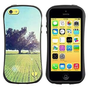 Pulsar iFace Series Tpu silicona Carcasa Funda Case para Apple iPhone 5C , Nature Beautiful Forrest Green 93