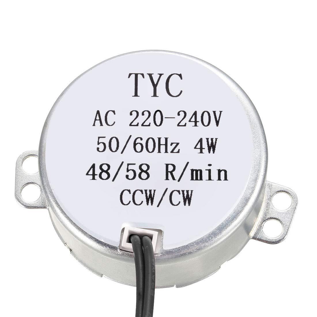 sourcing map El/éctrico Sincr/ónico Motor AC 220-240V CCW//CW 60-70 rpm