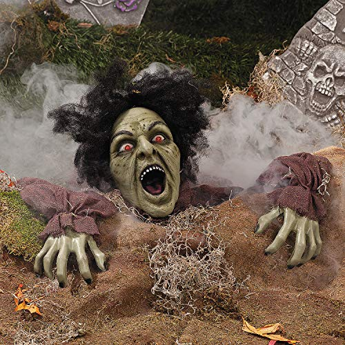 Fun Express - Climbing Zombie Ground Breaker for Halloween - Home Decor - Outdoor - Yard Art - Halloween - 1 Piece