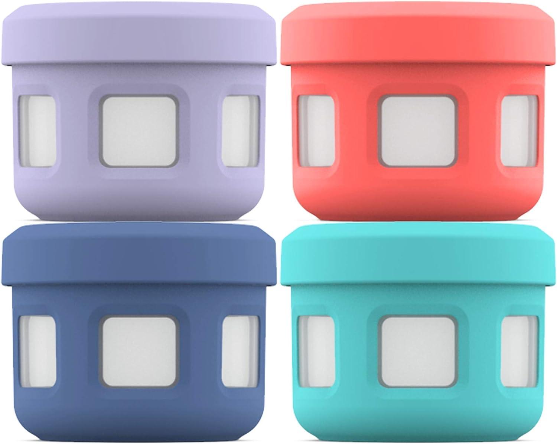 Ello Plastic 4Pc Condiment Set Food Storage Container, 5 oz, Fruit Cobbler