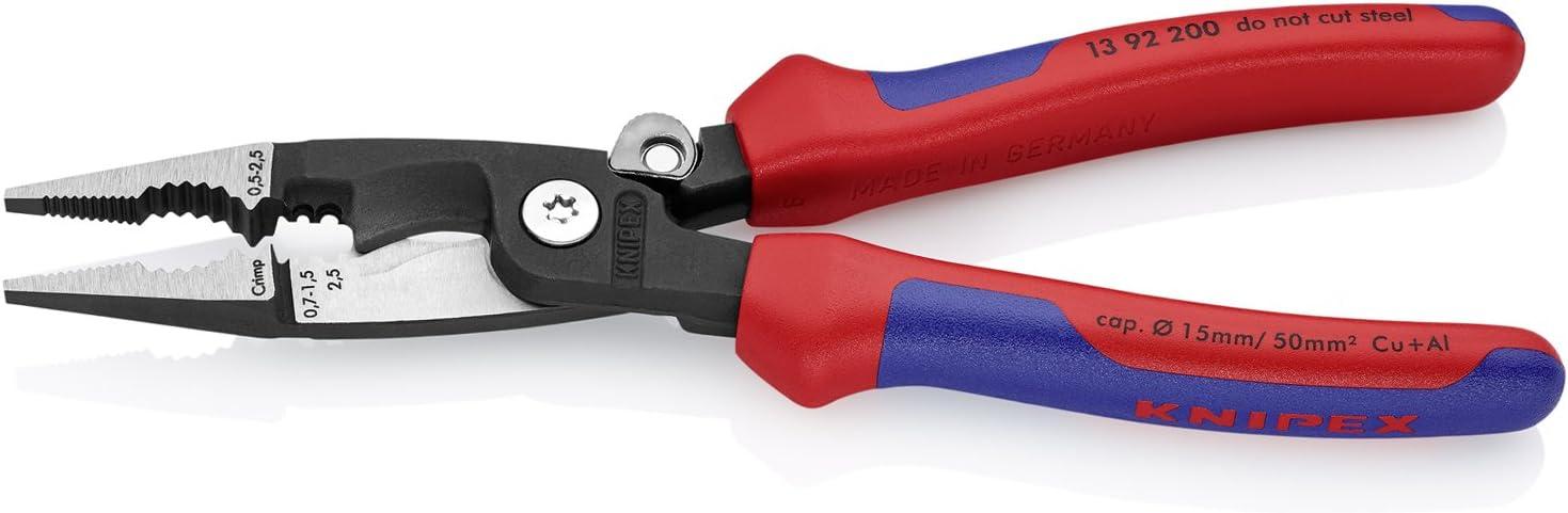 KNIPEX 13 02 160 SB Pince multi-fonctions noire atramentis/ée avec gaines bi-mati/ère 160 mm