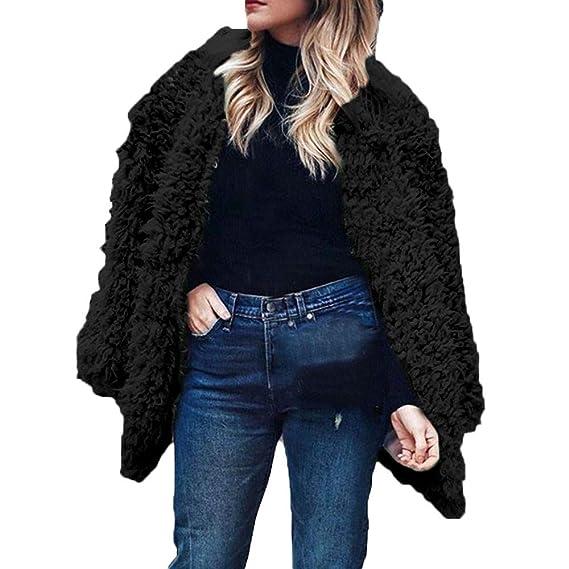 Btruely Herren Chaqueta Suéter Abrigo Jersey Mujer, Abrigos de Mujer Abrigo Largo de Piel sintética con Capucha Chaquetas Mujeres de Moda Sexy Invierno de ...