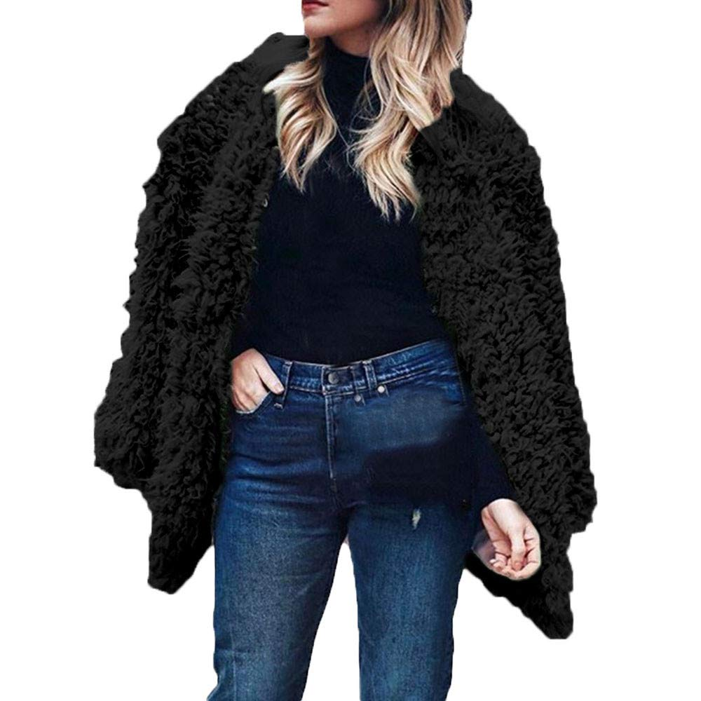e73d76d6a75 Womens Coats Fur Coat Teddy Bear Coat Women Fashion Sexy Winter Warm Faux  Fur Long Sleeve Solid Jacket Tops Coat Jackets at Amazon Women's Clothing  store: