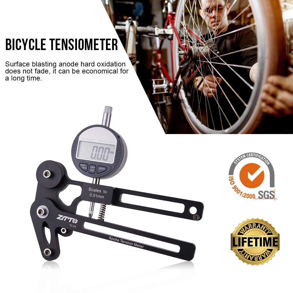 BDSONG Bicycle Spoke Tension Meter Wire Tension Adjustment Wheel Correction Brake Adjustment Tool by BDSONG