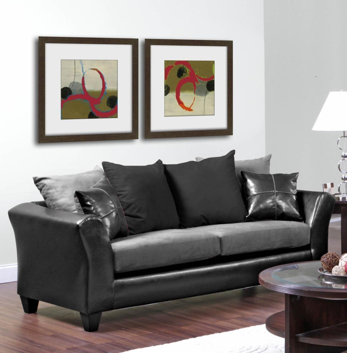 Amazon.com: Chelsea Home Furniture Gamma Sofa, Jefferson Black/Sierra  Graphite: Kitchen U0026 Dining