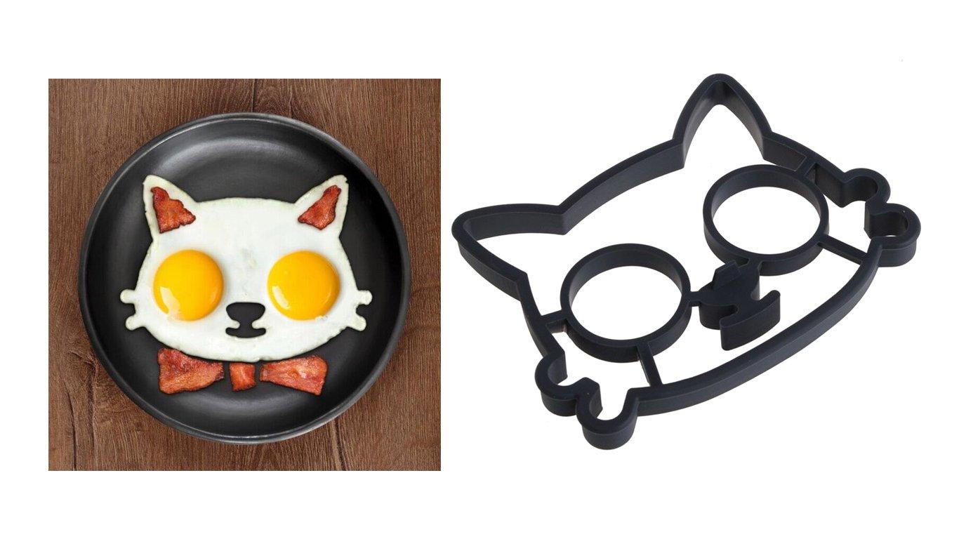Molde de silicona con forma de gato para hacer tortillas de huevo ...