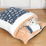 KIICN Cama para gatos para animais de estimação, cama para gatos ou cães pequenos calmantes cama para gatos auto-aquecimento
