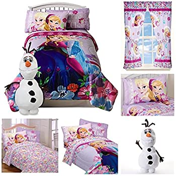 Amazon Com Disney Frozen Girls 7 Piece Bed In A Bag Twin