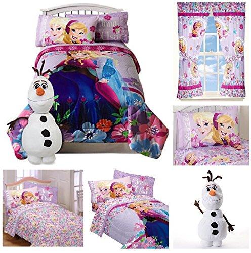 Disney Frozen Girls 7 Piece Bed in a Bag Twin Bedding Set...