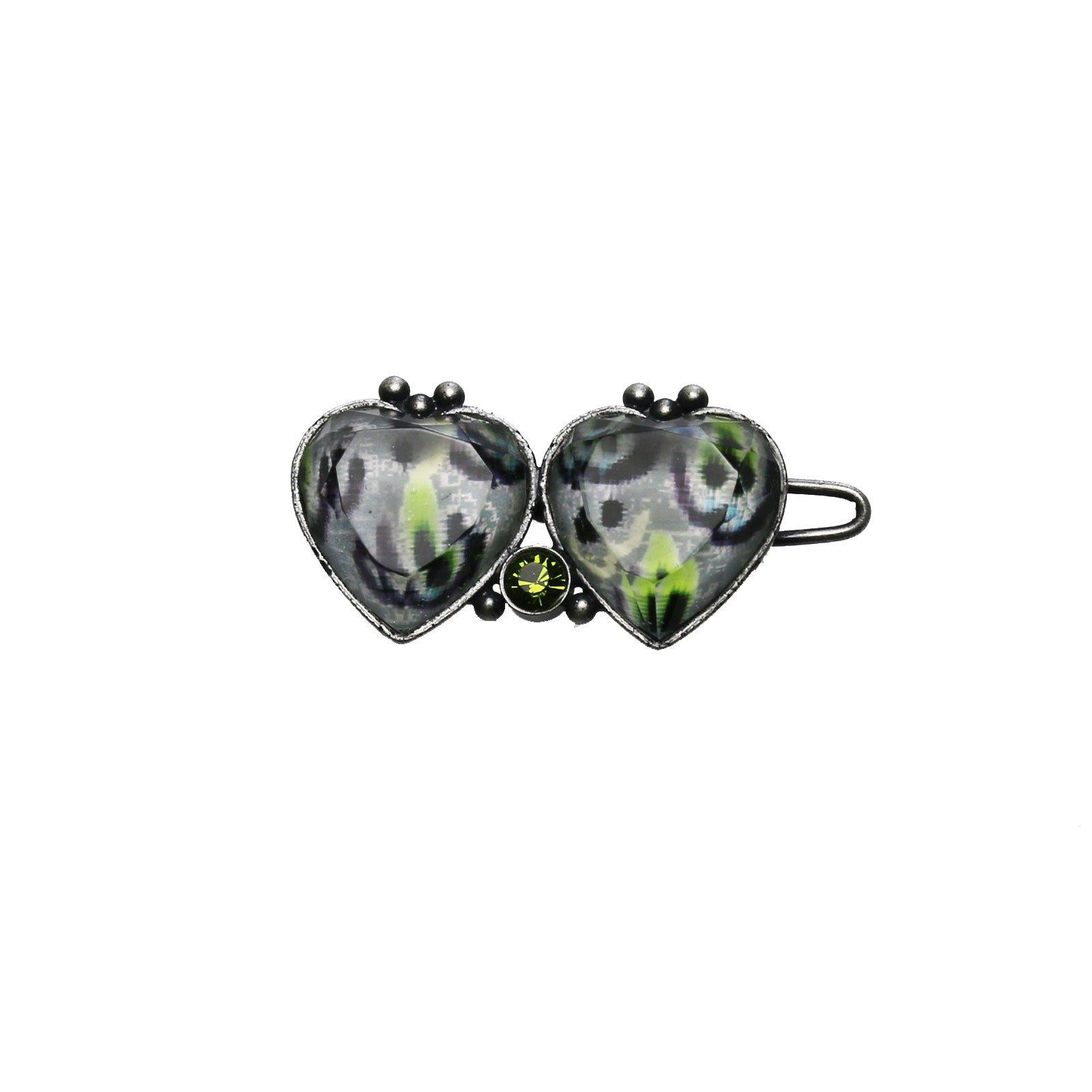 Tamarusan Hair Clip Hairpin Heart Gray Hair Ornament Hair Accessory