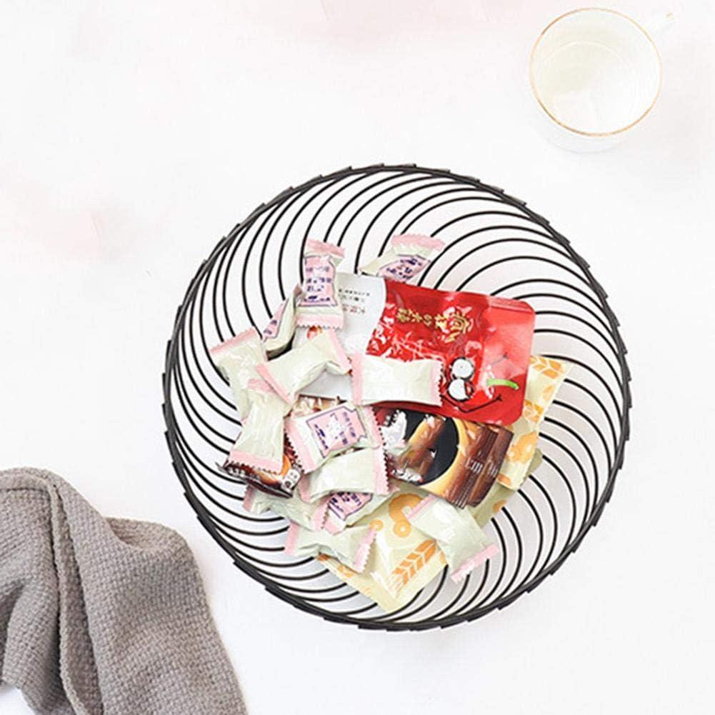 K/örben Obst Aufbewahrung Snack Tablett ObstkorbMode Schwarz Rund Openwork K/üche Obstteller Sch/üssel Schalen Ablagefach Lagerung Obstschale F/ür K/üche Wohnzimmer
