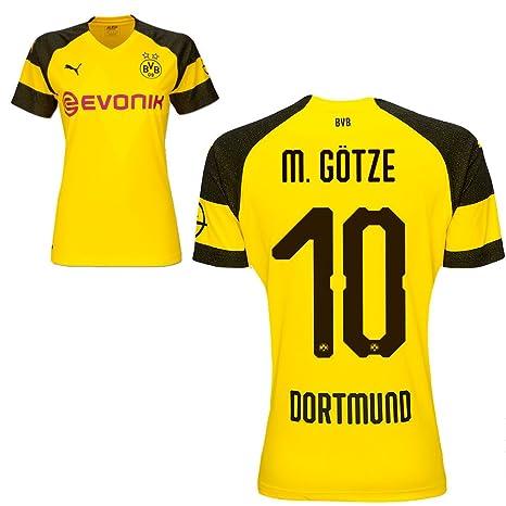 Puma Borussia Dortmund Fútbol Mujer Home Camiseta 2018 2019 Mujeres Camiseta con Jugador Nombre, M