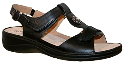 Cushion Walk Leichte Sommersandalen, Damen, mit Klettverschluss, schwarz -  schwarz - Größe: