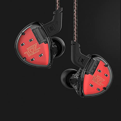 KZ ES4 In Ear Earphones Headphones,Yinyoo High Resolution Noise Cancelling Earbuds IEM Ergonomic Comfortable Hifi Bass Headphones Over Ear Monitor with Balanced Armature 2pin 0.75MM Cable black nomic