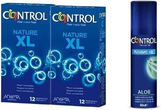 Control PACK PRESERVATIVOS/CONDONES XL 2 + GRATIS LUBRICANTE ALOE ...