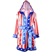 Children Costume Classic Movie Clothes Apollo American Flag Boxing Robe Hooded Shorts Kids Italian Stallion Suits