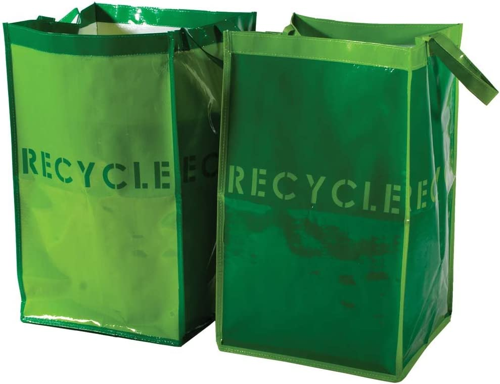 G.U.S. Recycle Bins for Home and Office - Set of 2. Waterproof Bags with Sturdy Handles