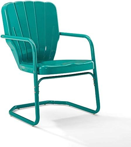 Crosley Furniture CO1031-TU Ridgeland Retro Metal Chair