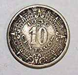 1936 MX Mexican 10 Centavos Coin 10c VF Details