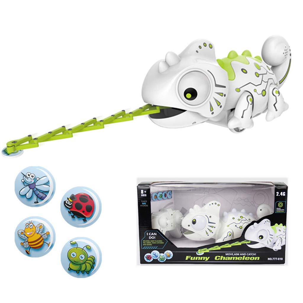Creazy Smart Chameleon Robotic Can Eat Things Function Cute Toy Electronic Pets by CreazyDog toy (Image #1)