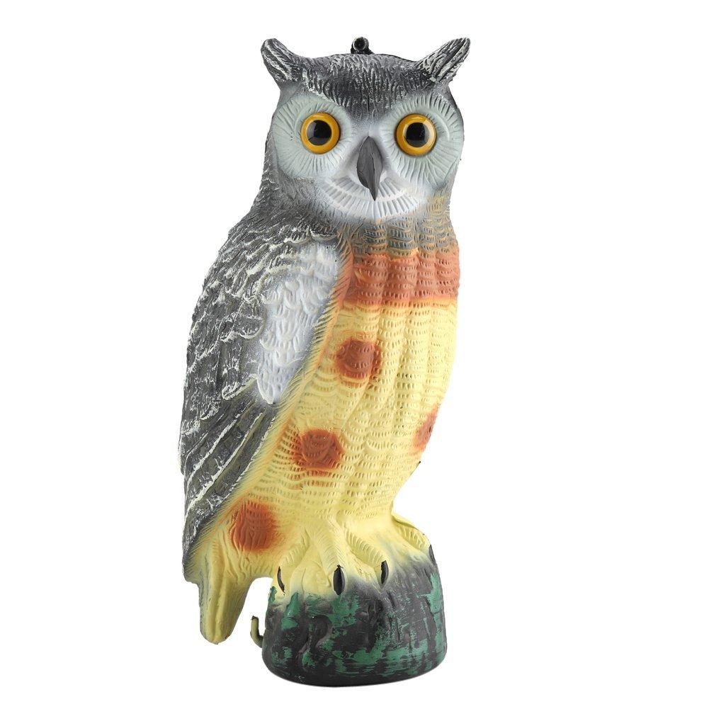 Delaman Fake Owl Prowler Fake Owls, Scarecrow Predator, Decoy Pest Garden Decor