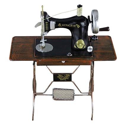 Luban Artesanía Decoración Creativa Modelos de máquina de Coser Vintage Retro Accesorios de fotografía de Hierro
