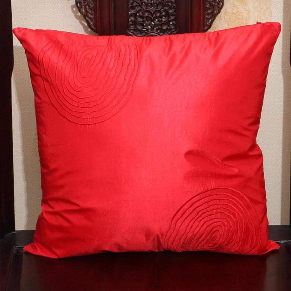 SFB Coussin lavable, bureau broderie pastorale chinoise oreiller lit oreiller Retour Lumbar voiture taille coussin oreiller, 45 * 45cm,sept 14