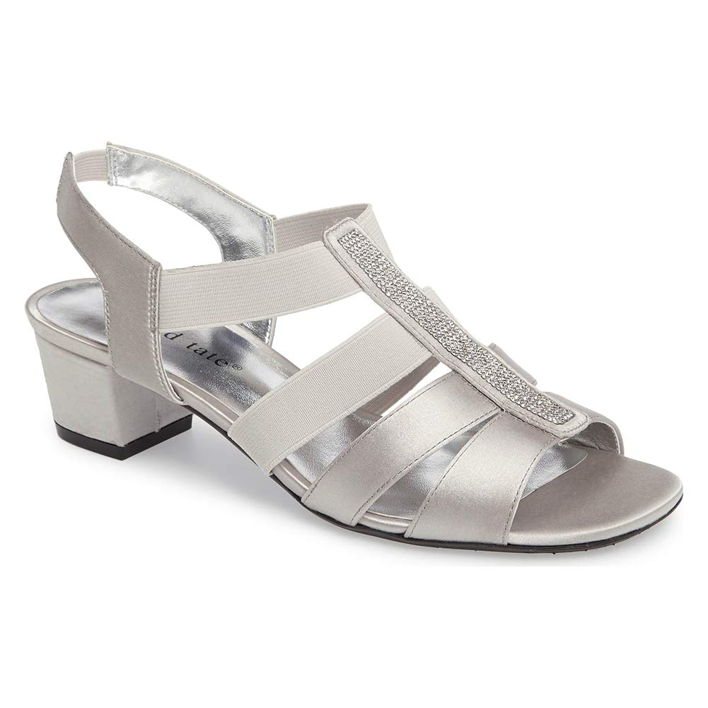 David Tate Women's Eve Sandals, Silver, 13 W