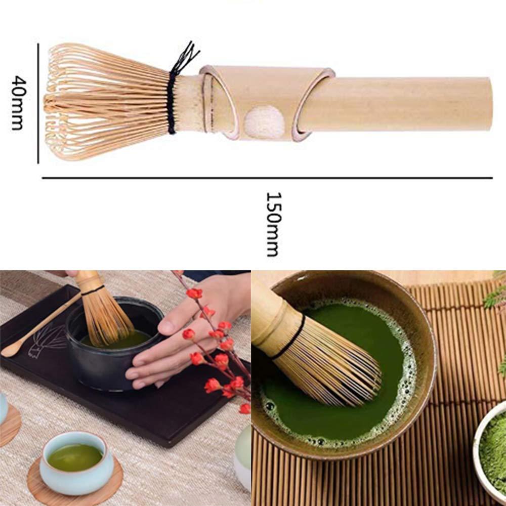 Gutsbox Ustensile Kit pour Matcha Tea Set Chasen Whisk Fouet en Bois de Matcha de Bambou pour pr/éparer Matcha en Bambou avec 80 Poils
