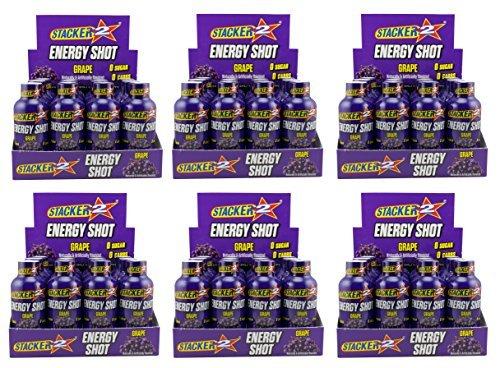 Stacker 2 Energy Shots Grape Flavor 2oz. (72 Bottles) by STACKER 2