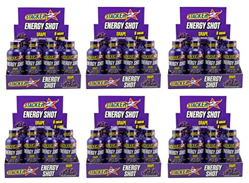 - Stacker 2 Energy Shots Grape Flavor 2oz. (72 Bottles)