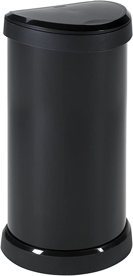 39/x 29/cm pl/ástico CURVER Cubo de Basura Deco Bin Pedal 50L V3 Kitchen Black