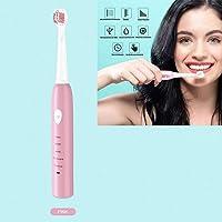 Escova de Dente Eletrica USB Refil Recarregavel Saude Dental Rosa