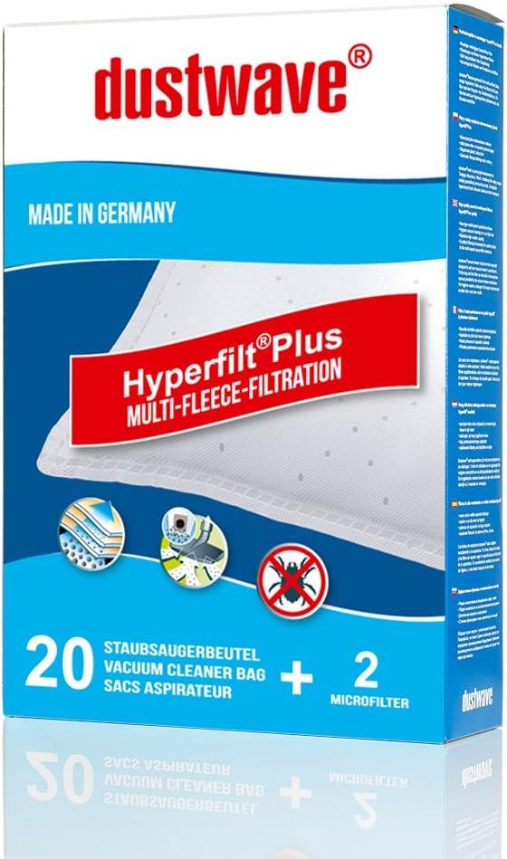 20 bolsas para aspiradoras Rowenta Silence Force RO6432 dustwave/® Bolsas para el polvo de marca dustwave/® fabricado en Alemania