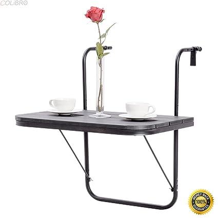 Amazoncom Colibrox Adjustable Folding Deck Table Patio Balcony
