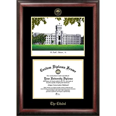 Citadel Bulldogs Diploma Frame with Limited Edition Lithograph