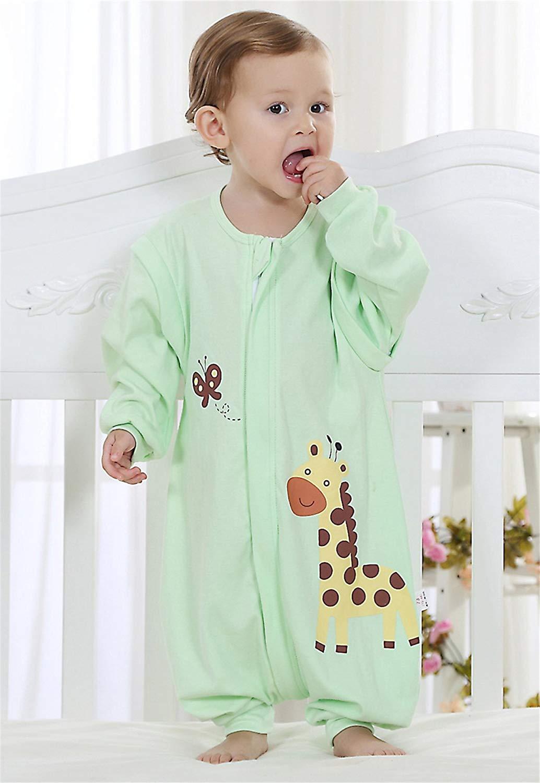Baby Sommer Schlafsack mit Beinen abnembar Langarm Kinder Strampler Schlafanzug