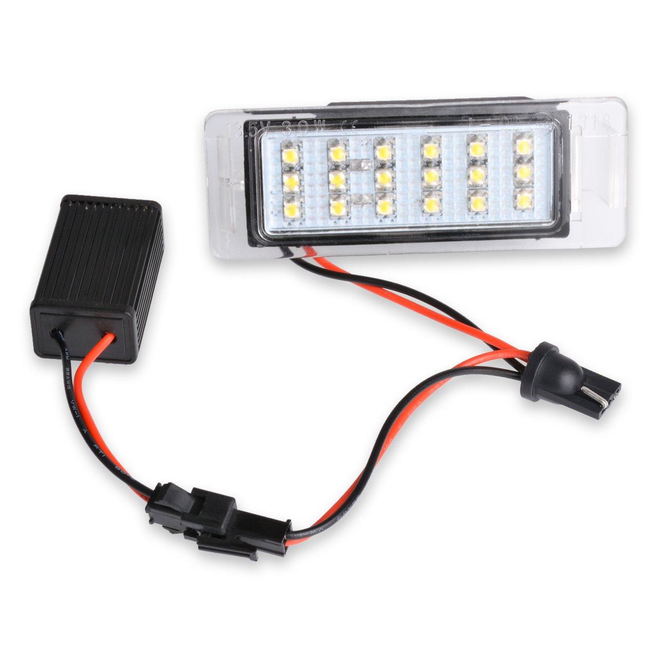12-14.5 V 2 W Ngcat 1 paire 18smd LED Canbus lumi/ère de plaque dimmatriculation lampe de plaque dimmatriculation arri/ère de voiture Trunk commutateur Bouton Car Styling
