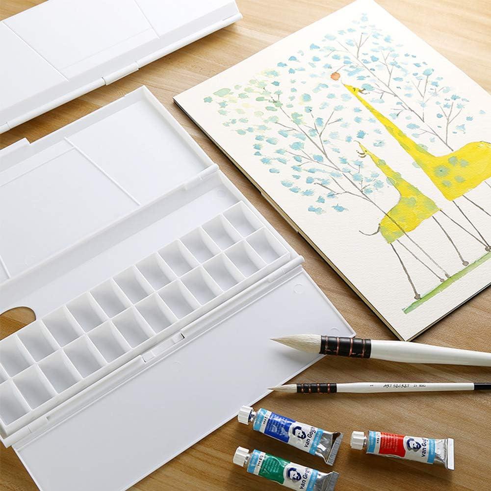 24 Raster Aquarell-Gouache-Malerei-Plastikpaletten-Farben Barley33 Aquarell-Palette