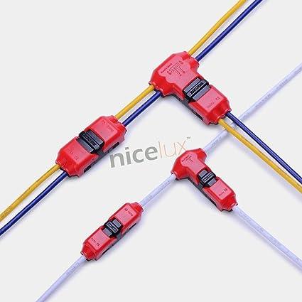 Davitu Connectors - 10pcs Quick Splice Wire Wiring Connector ... on